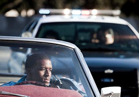 cop pulls over