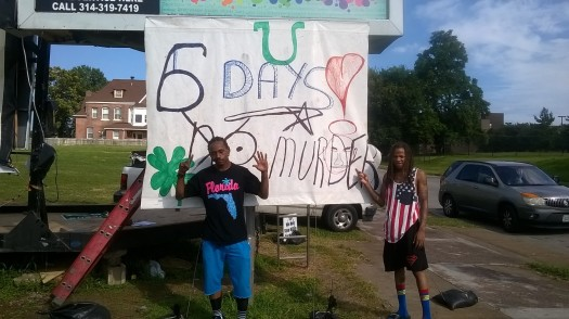 "The count of days without a murder at Daniel ""Boone"" Fuller's vigil."