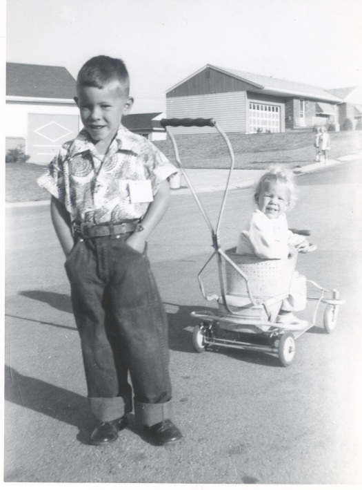 Burns1954 about 6 yrs John Burns pushing younger sister around