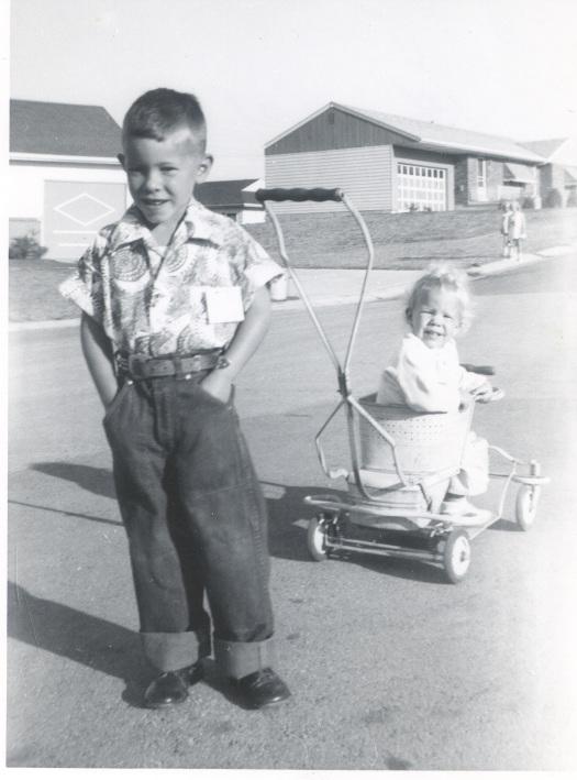 Burns1954 about 6 yrs John Burns pushing younger sister around
